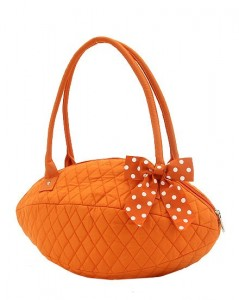 Monogrammed Quilted Football Purse