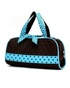 Quilted 3pc Cosmetic Bag