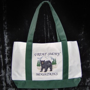 Great Smokey Mountian Bear Tote Bag